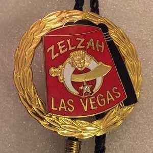 1992 Masonic enamel bolo necklace